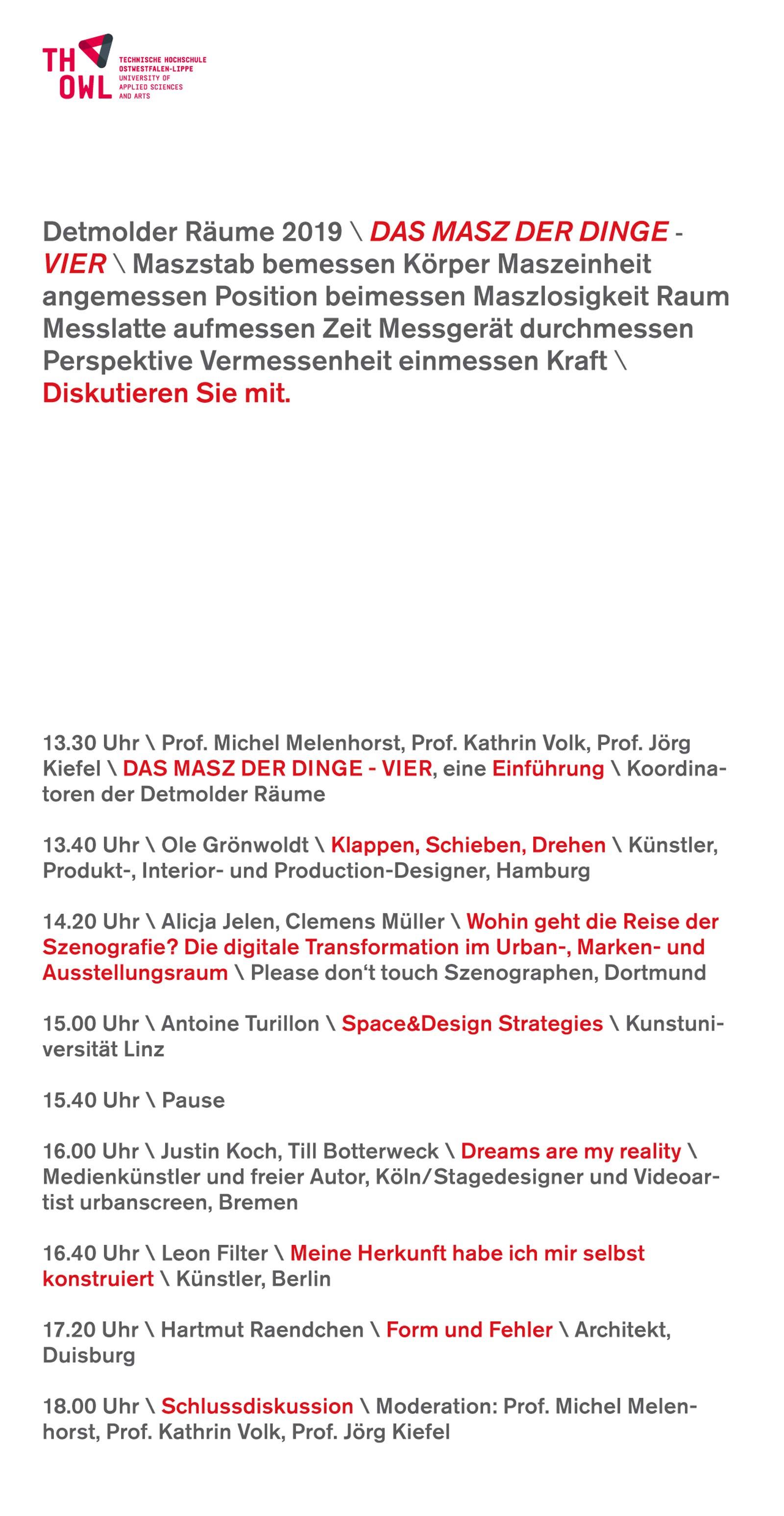 Detmolder Schule für Innenarchitektur Konferenz